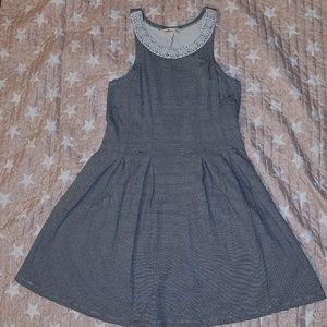 Hollister Sleeveless Striped Dress (Large)